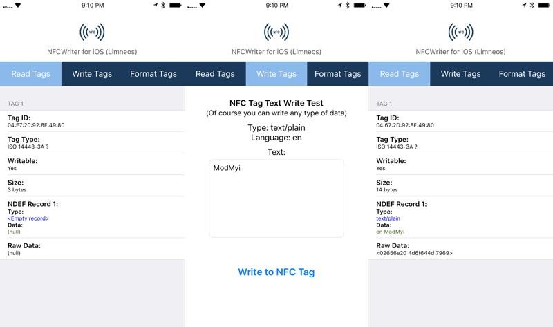 Taking a closer look at the NFCWriter app by Elias Limneos