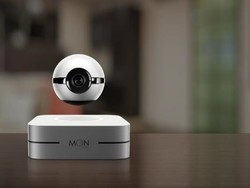 The 1-Ring Moon is a floating ball that monitors your home
