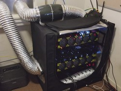 This guy used a weed grow tent to cool his bitcoin mining rig