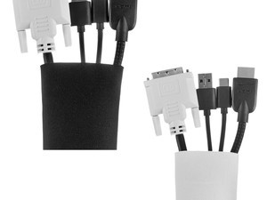 Get organized with four AmazonBasics 20-inch zippered cable sleeves for $7