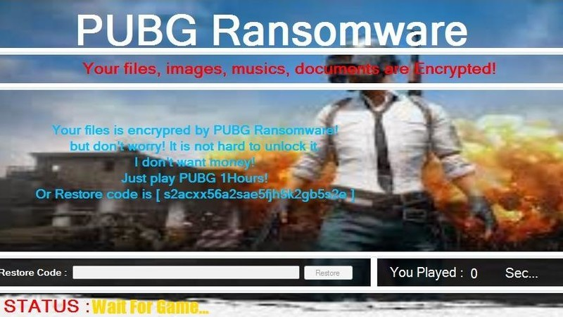 New Ransomware will force you to play PUBG to decrypt your files